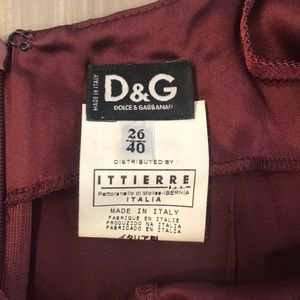 D&G Silk burgundy fitted dress, size IT 40